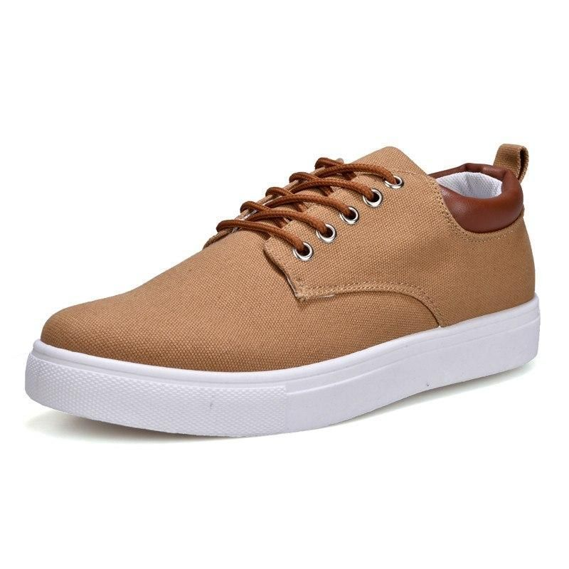 Canvas Shoes Men Casual Shoes 2018 Spring Autumn Sneakers Lace Up Men Comfortable Shoes Big Size 47 Handmade Moccasins Merkmak Canvas Shoes Men Casual Shoes 2018 Spring Autumn Sneakers Lace Up Men Comfortable Shoes Big Size 47 Handmade Moccasins Outfit Accessories From Touchy Style | Black, Blue, Brown, Casual Shoes, Daily Use, Flat, For Boy, F