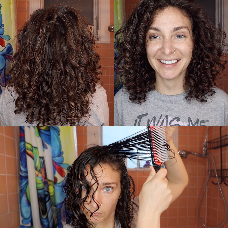 Denman Brush On Fine Wavy Curly Hair Thin Wavy Hair Curly Hair Styles Wavy Curly Hair
