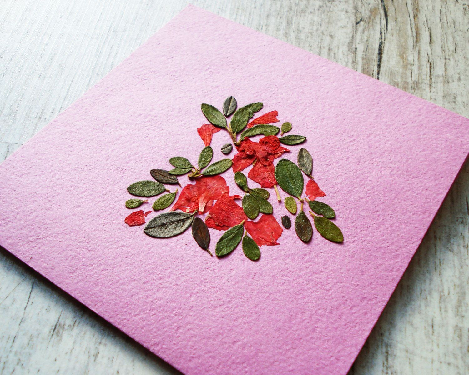 Flower greeting card pressed flower valentine card collage card flower greeting card pressed flower valentine card collage card botanical dried flower card paper handmade greeting kristyandbryce Image collections