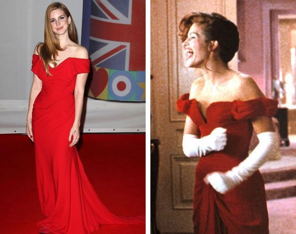Mujer bonita vestido rojo