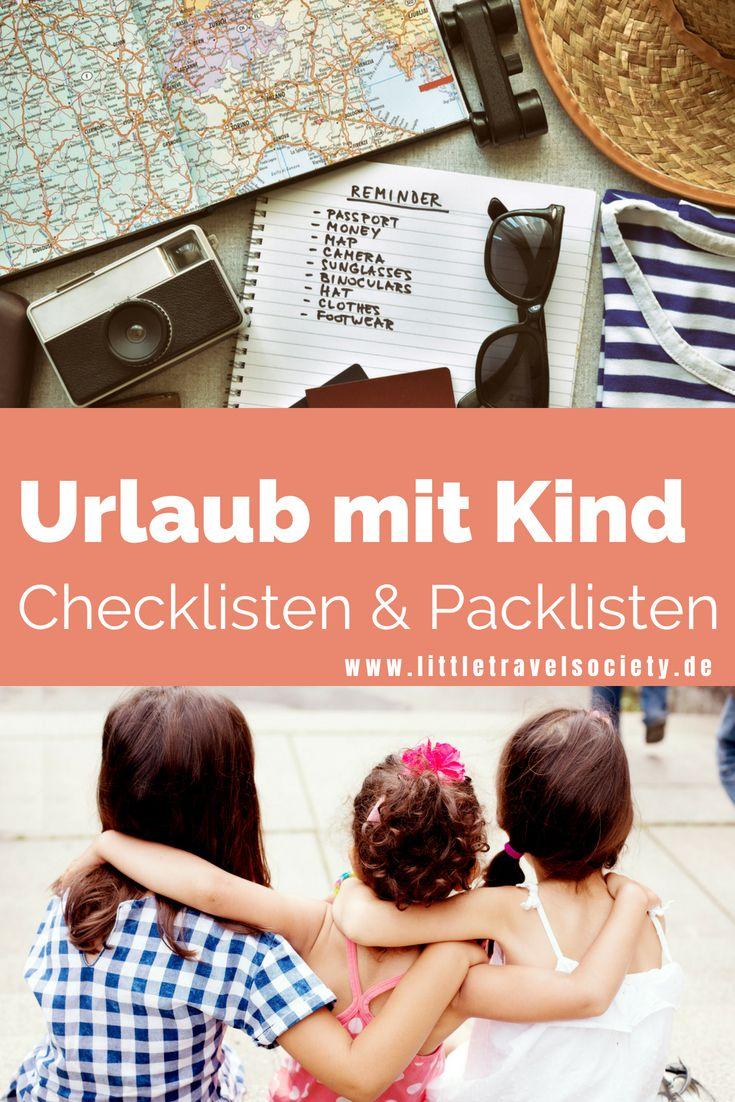 die ultimative checkliste für den urlaub mit kind  urlaub