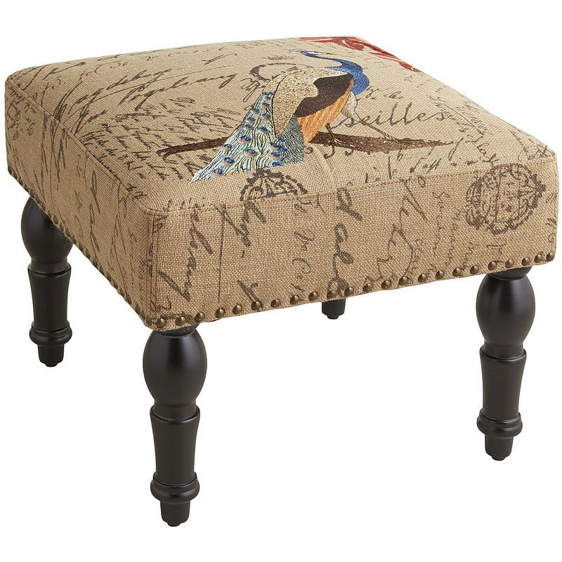 Fabulous Embroidered Ottoman Peacock Pier 1 Imports Accent Andrewgaddart Wooden Chair Designs For Living Room Andrewgaddartcom