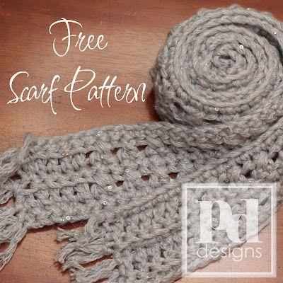 PDDesigns: FREE PATTERN: Dewdrops Scarf   Crochet Bufandas ...
