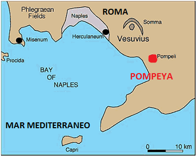 Pompeya Italia Mapa | Mapa