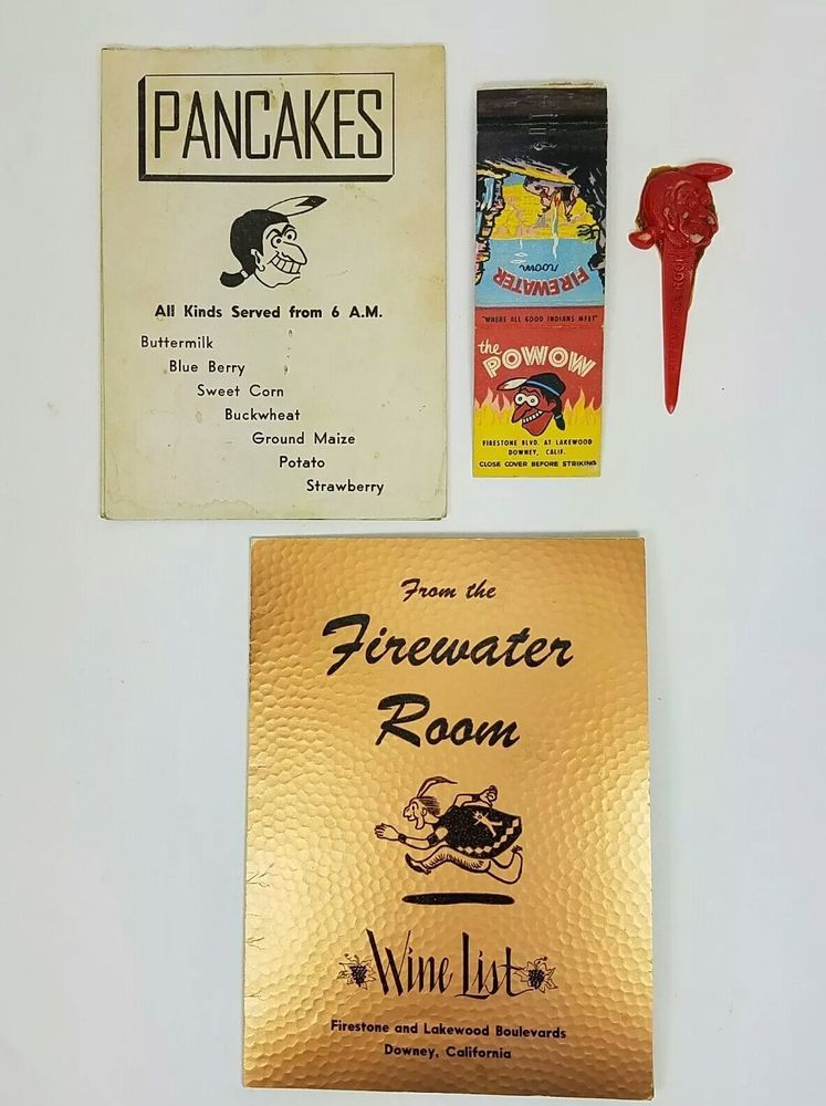 1950 s powow dining firewater room match cover wine list table