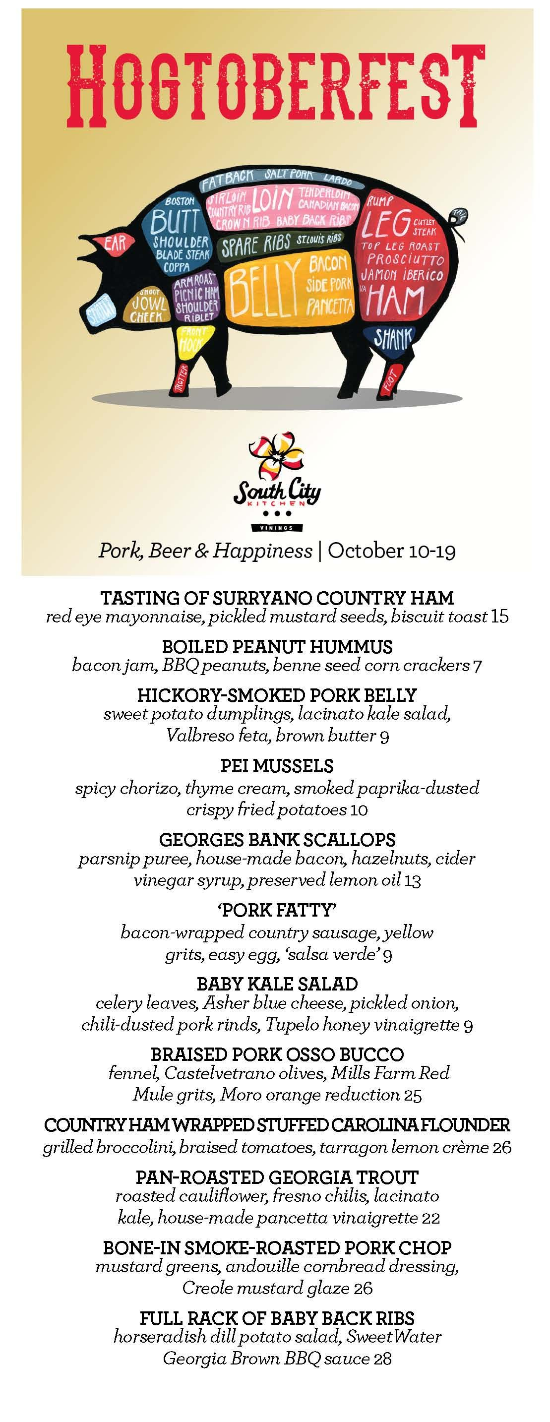 Hogtoberfest begins tonight and runs through October 19. Make ...