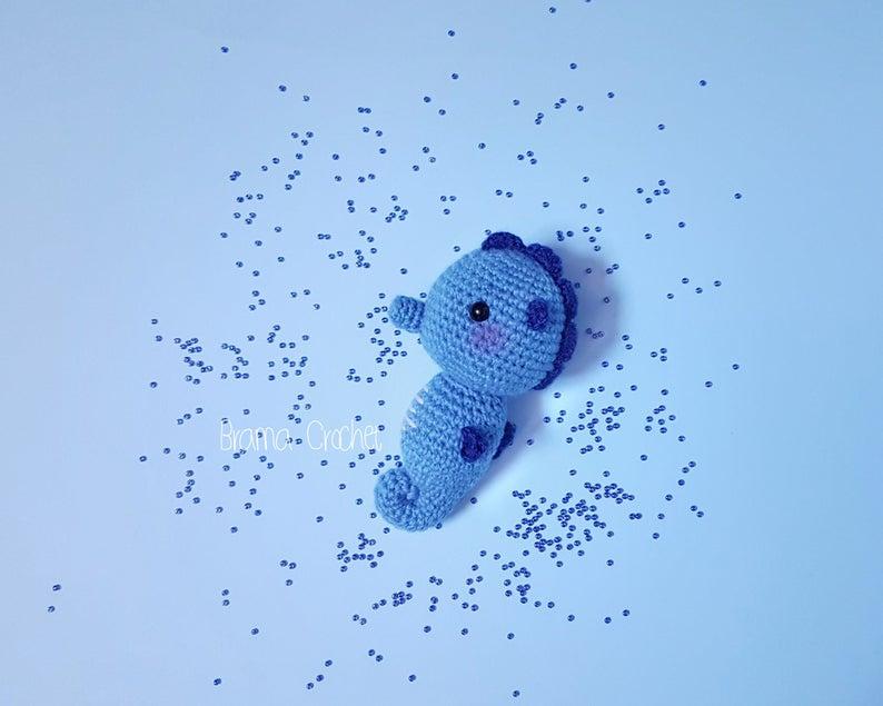 Seahorse Kawaii Amigurumi doll. Handmade crochet toy plush | Etsy