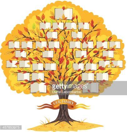 Vector Art Family Tree Template Genealogy And Family Tree