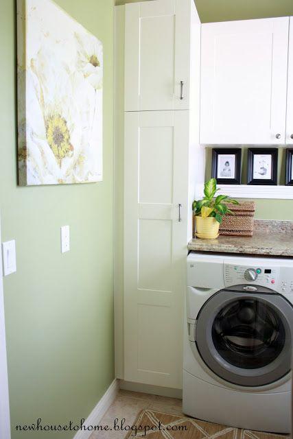 Good Narrow Broom Closet In Laundry Room