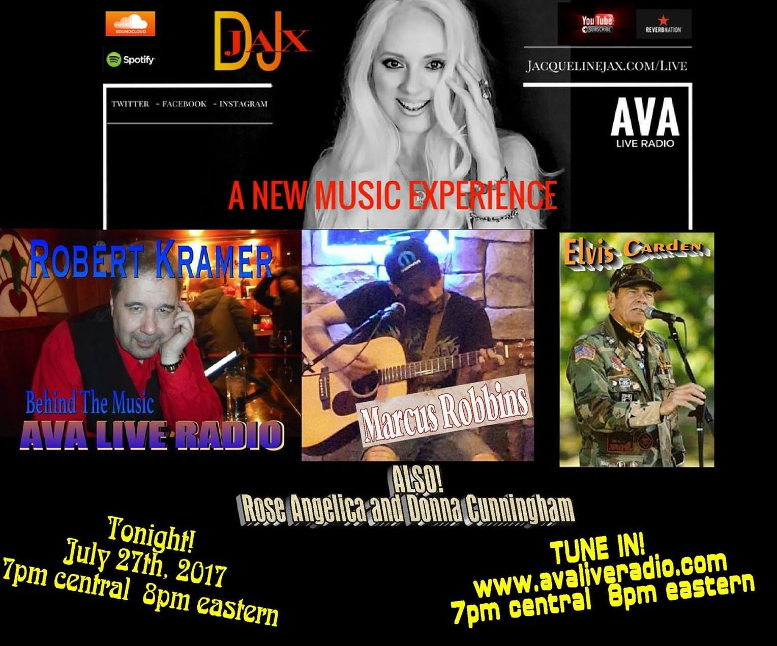 Robert Kramer On Ava Live Radio With Jacqueline Jax Kramer New Music Robert