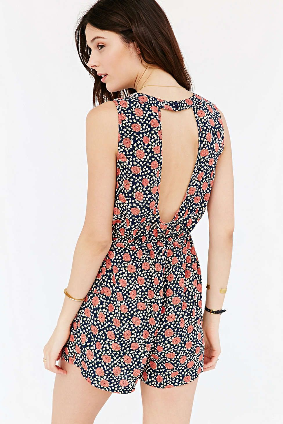 Kimchi Blue Side-Tie Open-Back Romper - Urban Outfitters ...