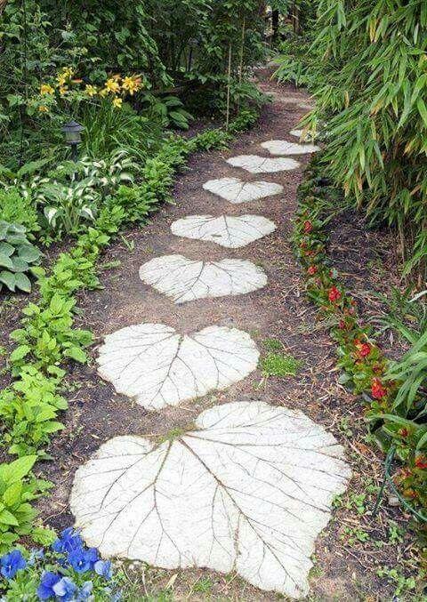 Stone Pathways For Gardens Pin by gricelda fuentes on garden pinterest gardens garden these heart shape leafy stepping stones workwithnaturefo