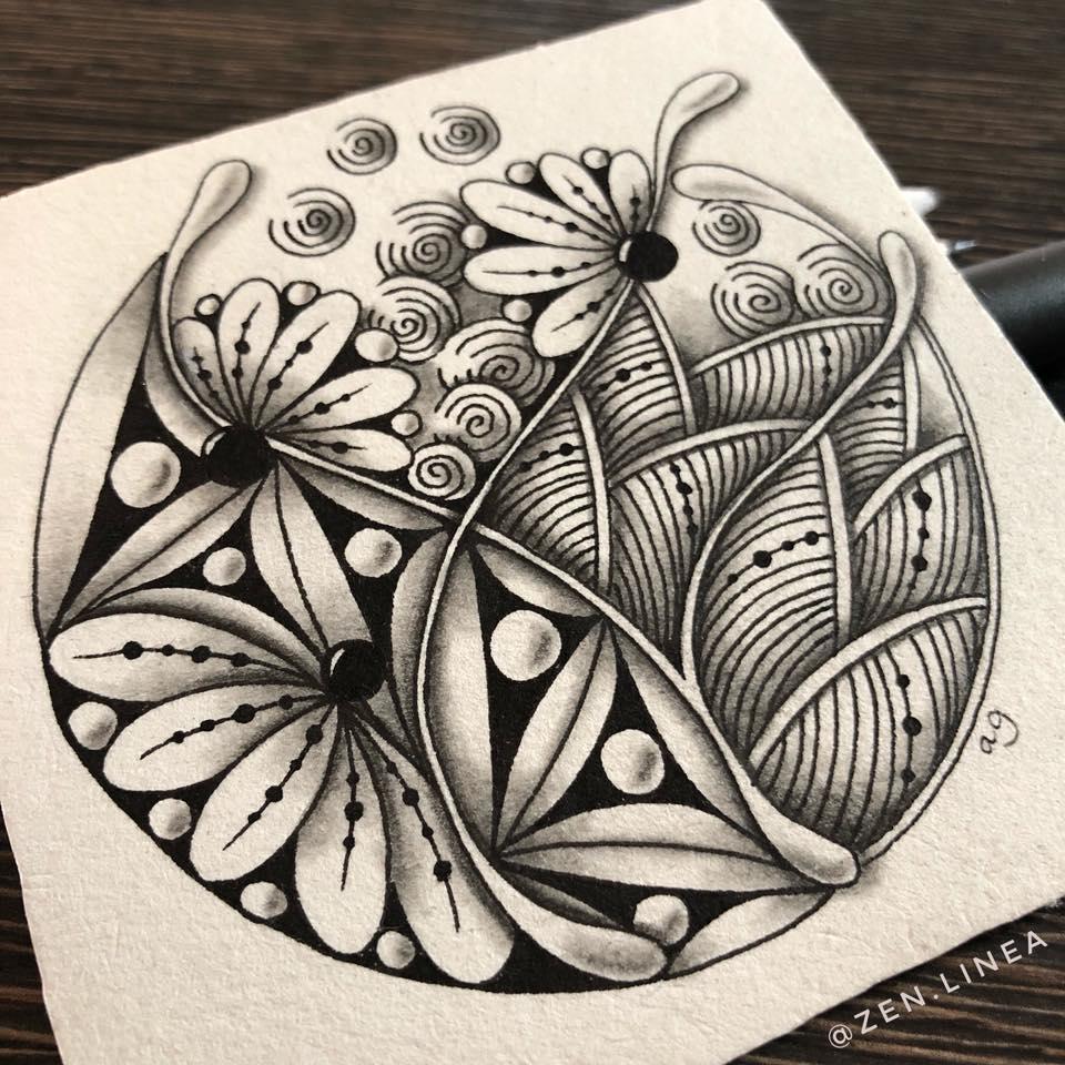 Charcoal Art Zentangle Artwork Zentangle Drawings Zentangle Art