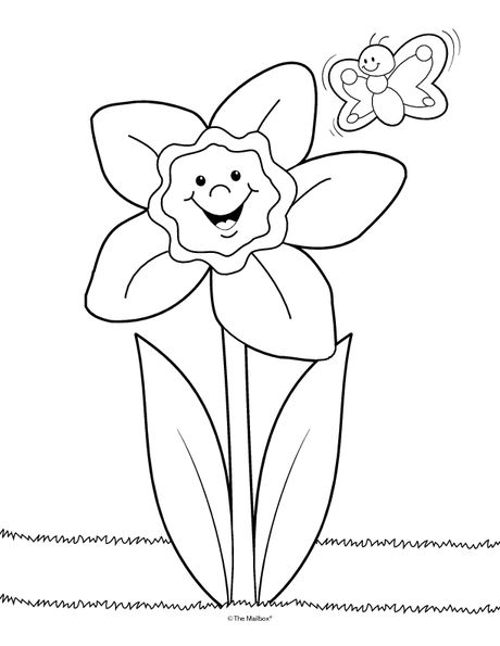 Daffodil Coloring Page Perfect For Little Ones Could Also Be A
