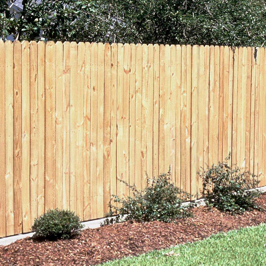 Shop Pine Dog Ear Pressure Treated Wood Fence Picket Common 5 8