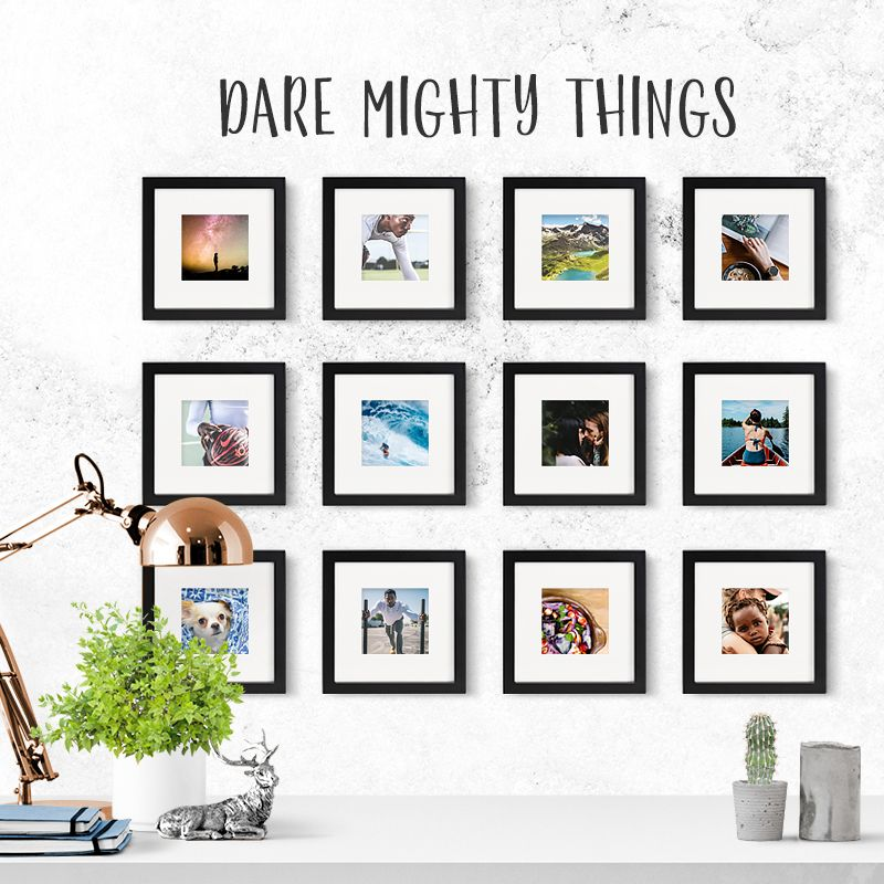 TINY MIGHTY FRAMES picture wall! Your work studio? The space you ...