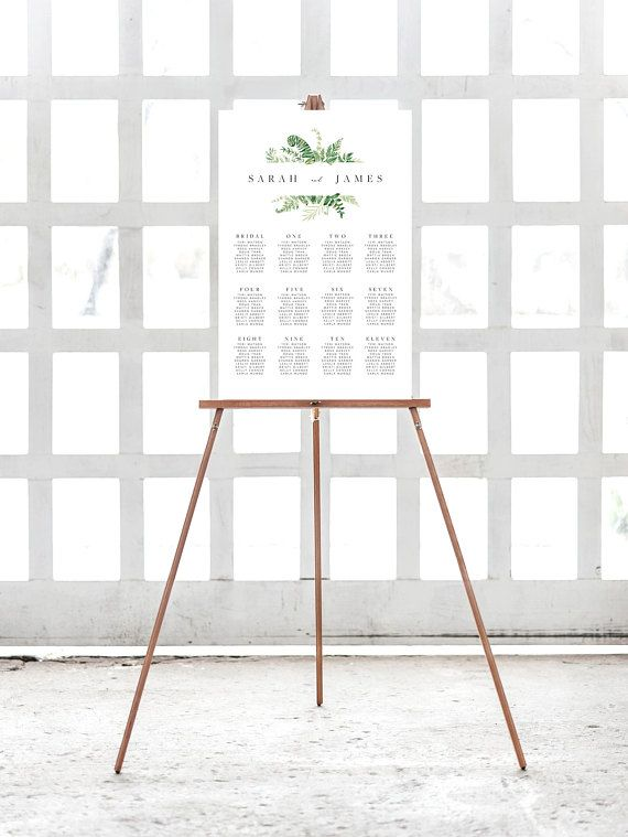 Wedding Seating Chart Template Instant Download Printable Wedding ...