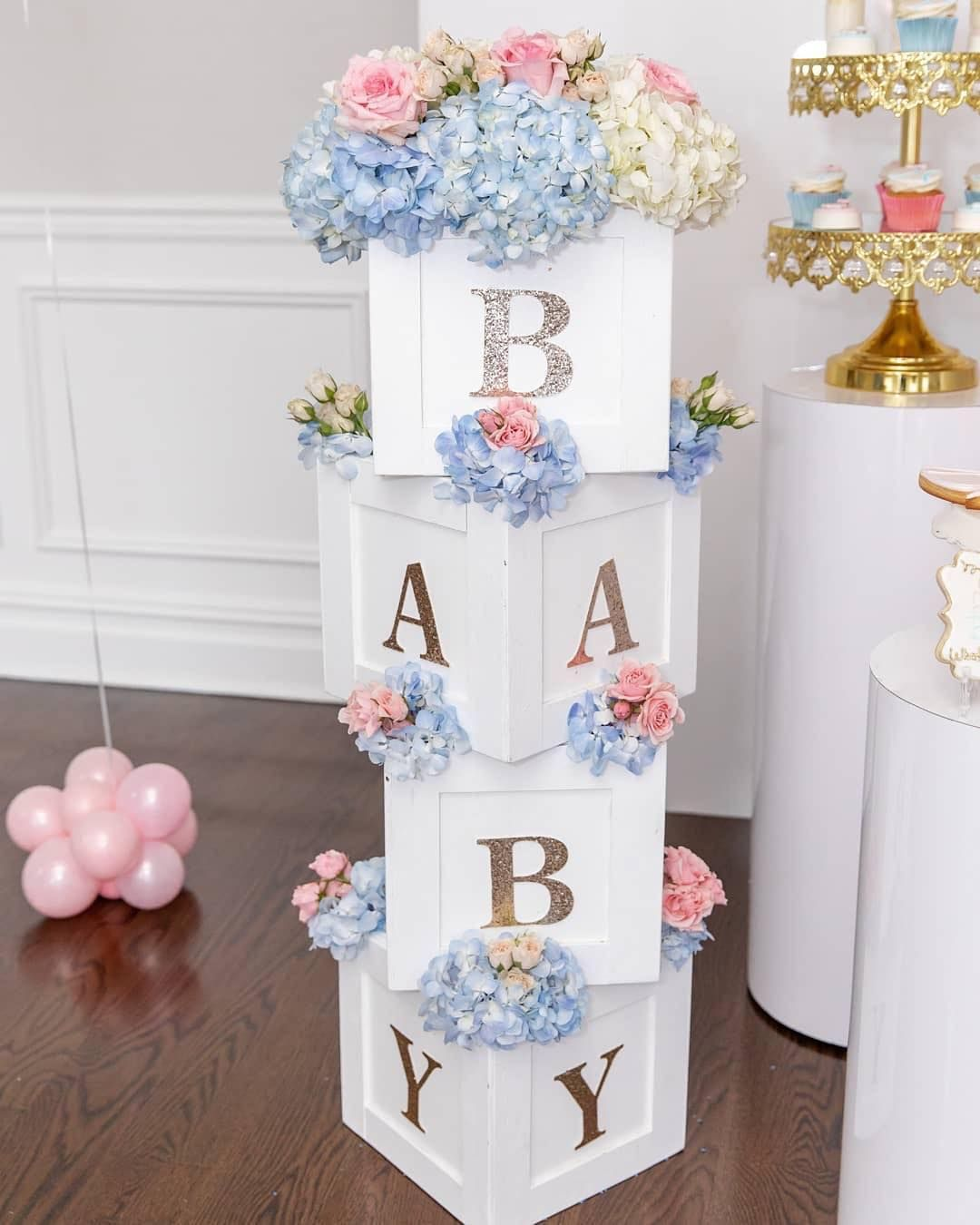 The Simplest Yet Prettiest Gender Reveal Decor I Love The
