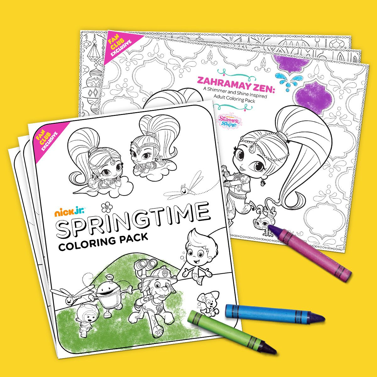 Nick jr print pages to color - Fan Club Exclusive Springtime Coloring Pack Kids Coloringadult Coloring Pagesnick Jrspring