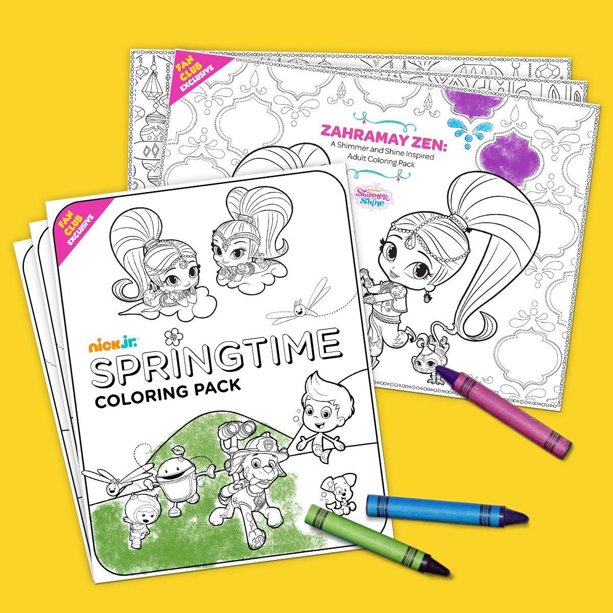 Fan Club Exclusive Springtime Coloring Pack | Mandalas y Dibujo