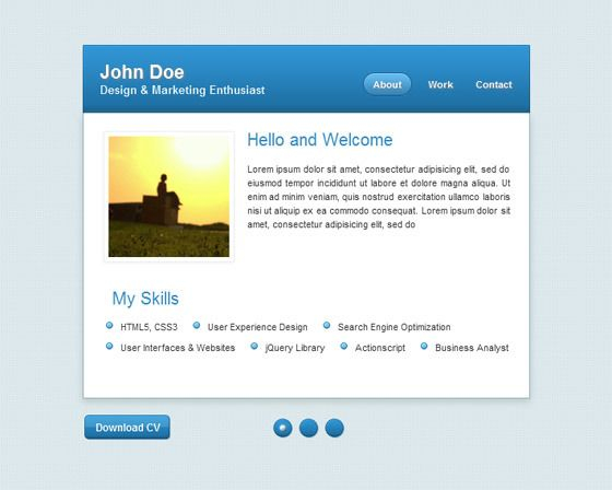 8 Free vCard Website Templates for Online Resume - Smashfreakz