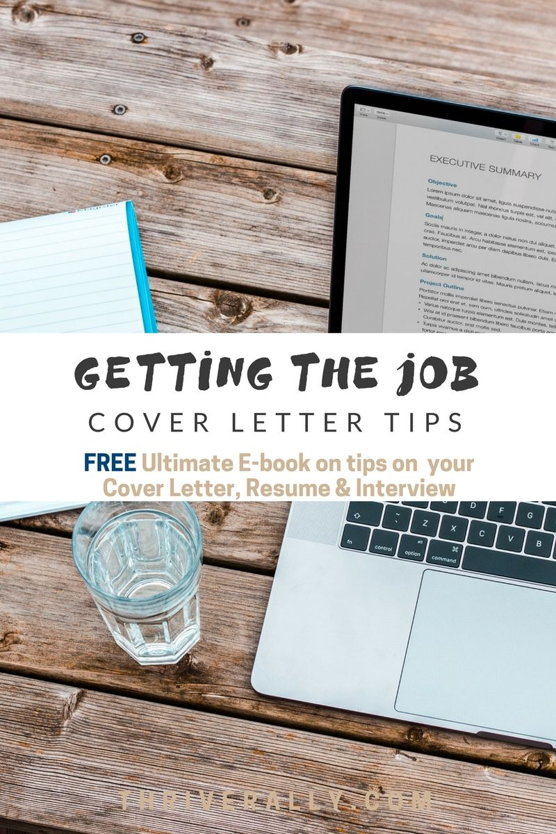 Getting The Job Cover Letter Tips  Job Cover Letter Saving