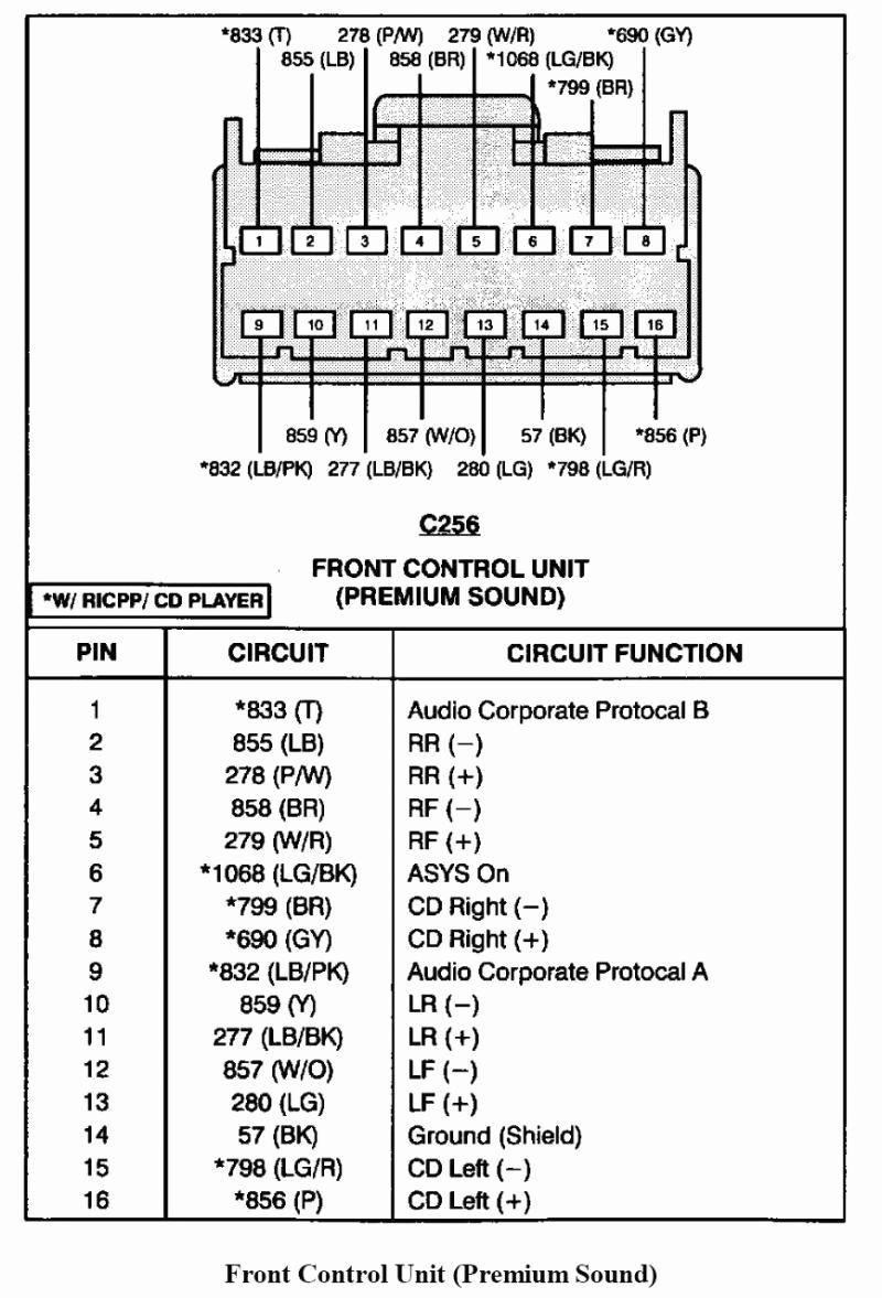 1995 ford mustang radio wiring diagram  center wiring