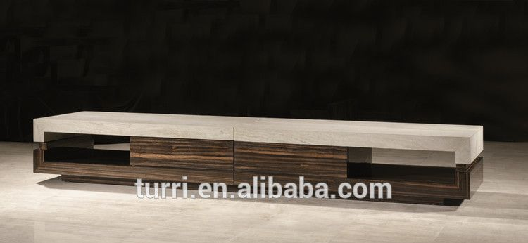 Modern Furniture Tv Stands modern marble travertine and wooden italian design tv stand