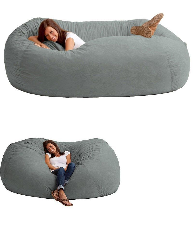 Bean Bags And Inflatables 48319 Giant 7 Foot Faux Suede Microfiber Lounger Comfy Bag