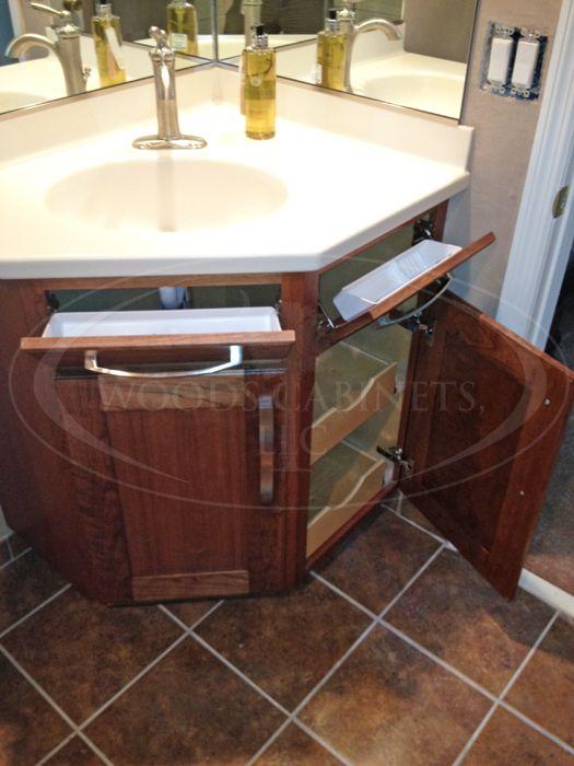 Pin By Carole Mensing On Bathroom Ideas Corner Bathroom Vanity Small Bathroom Vanities Bathroom Sink Diy