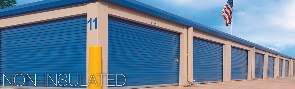 Non Insulated Commercial Garage Doors Premium Duty 20 Gauge And