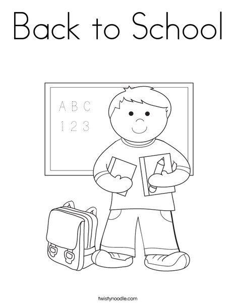 back to school coloring page from twistynoodlecom