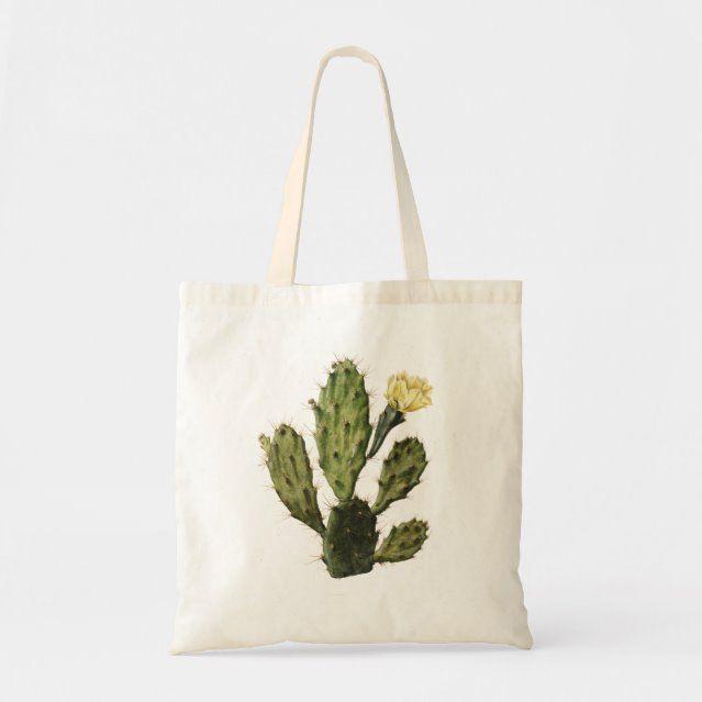 Cactus Flower Vintage Drawing Tote Bag  bag