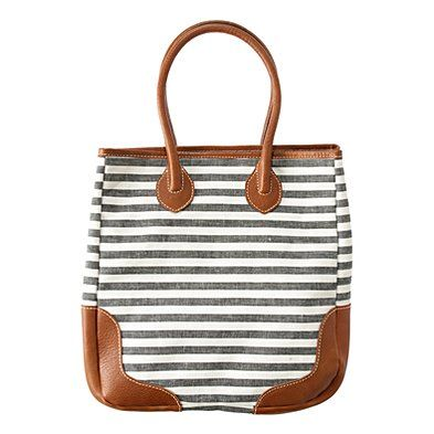 Loving this bag!! Wish it was less money... The Porchstripe Turnstile Tote by Madewell. $128