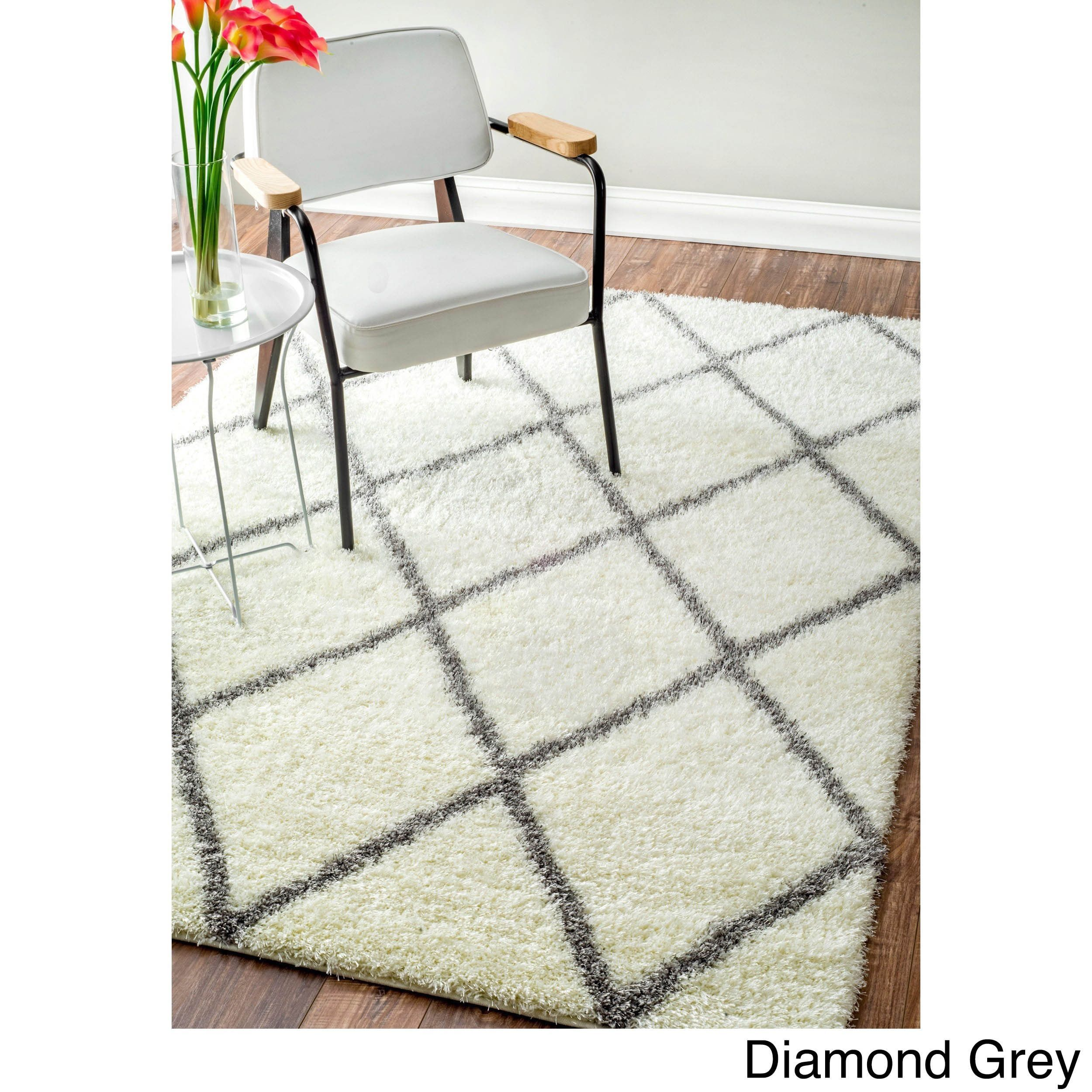 Nuloom Soft And Plush Moroccan Trellis Or Diamond Rug 8 X 10