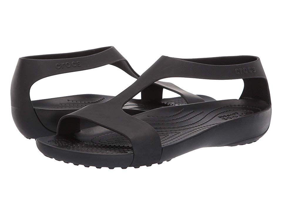 Crocs Serena Sandal Women S Sandals Black Black Sandals Crocs Crocs Sandals
