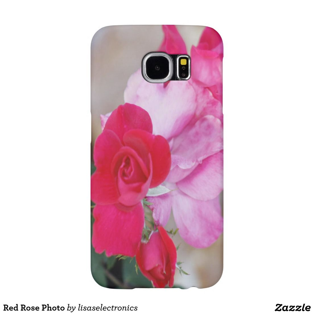 Red Rose Photo Samsung Galaxy S6 Cases
