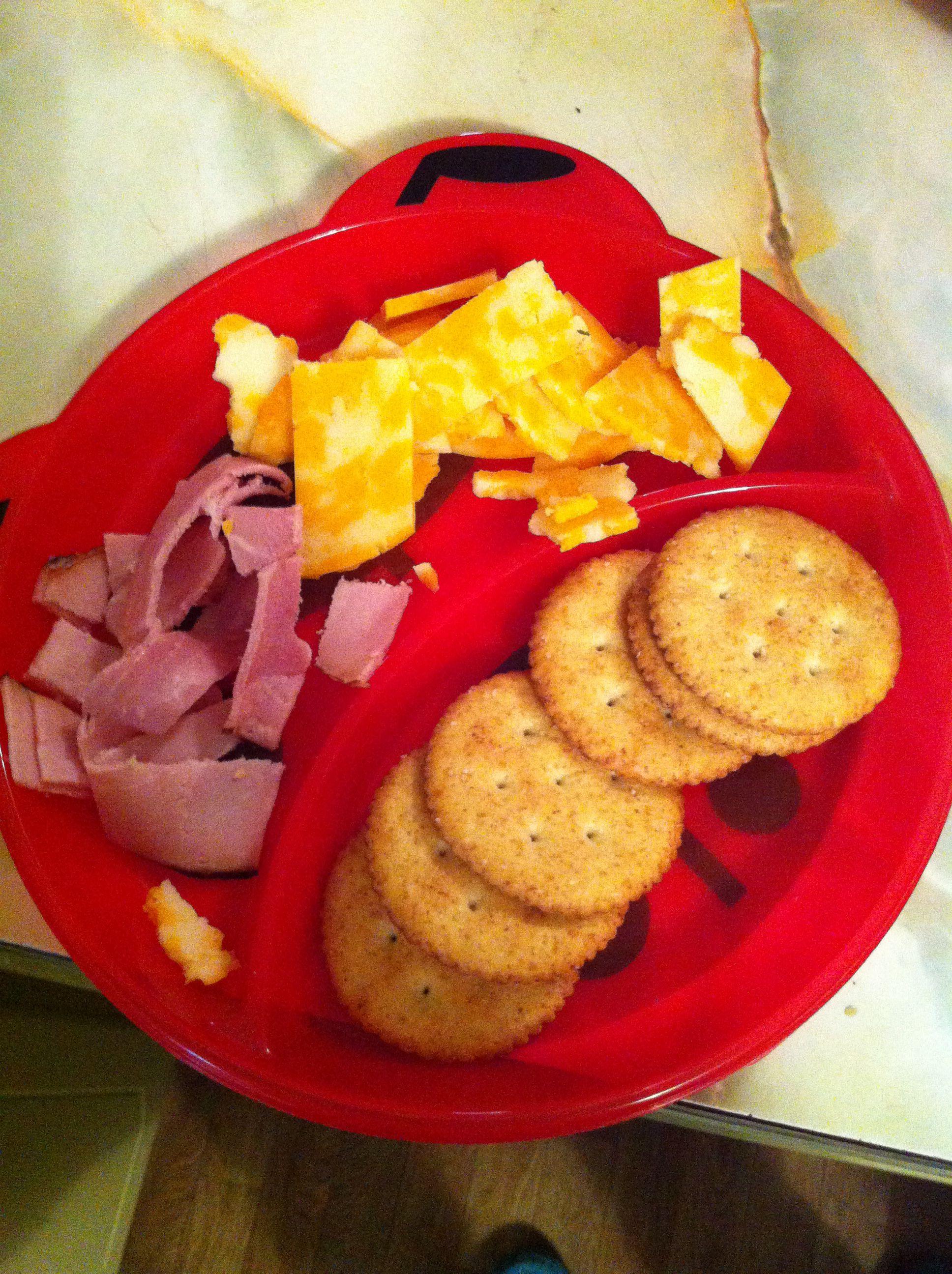 Ham. Cheese. Crackers.