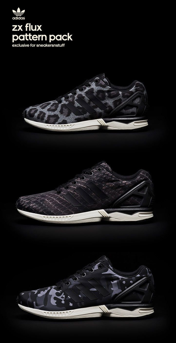 Adidas Zx Flux Black Pattern