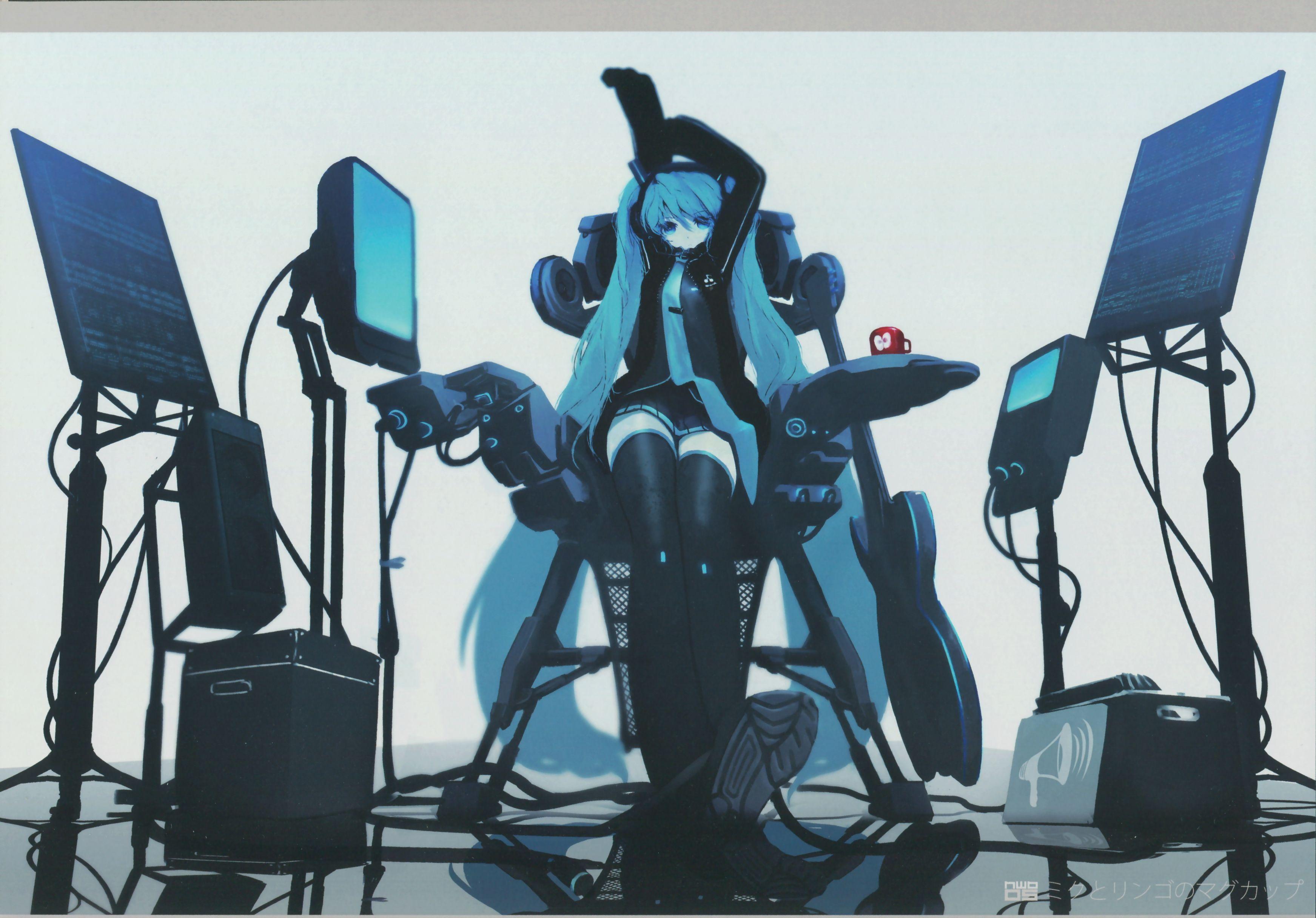 Hatsune Miku Vocaloid digital singer anime Hatsune