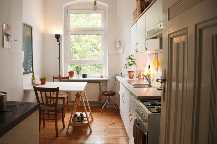 Küche mit Esstisch in 1 Zimmer Wohnung in Kreuzkölln - 1-Zimmer - kche mit esstisch