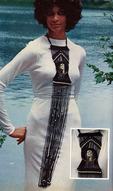 Long Macrame Neck Art Vintage Macrame Pattern Download