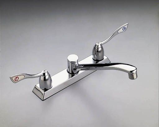 Moen Commercial Handle Kitchen Faucet Chrome Faucetdepot Commercial - Moen commercial bathroom faucets