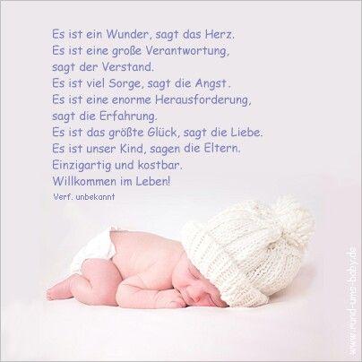 Pin Von Coco Auf Sprüche Co Spruch Geburt Baby Schöne