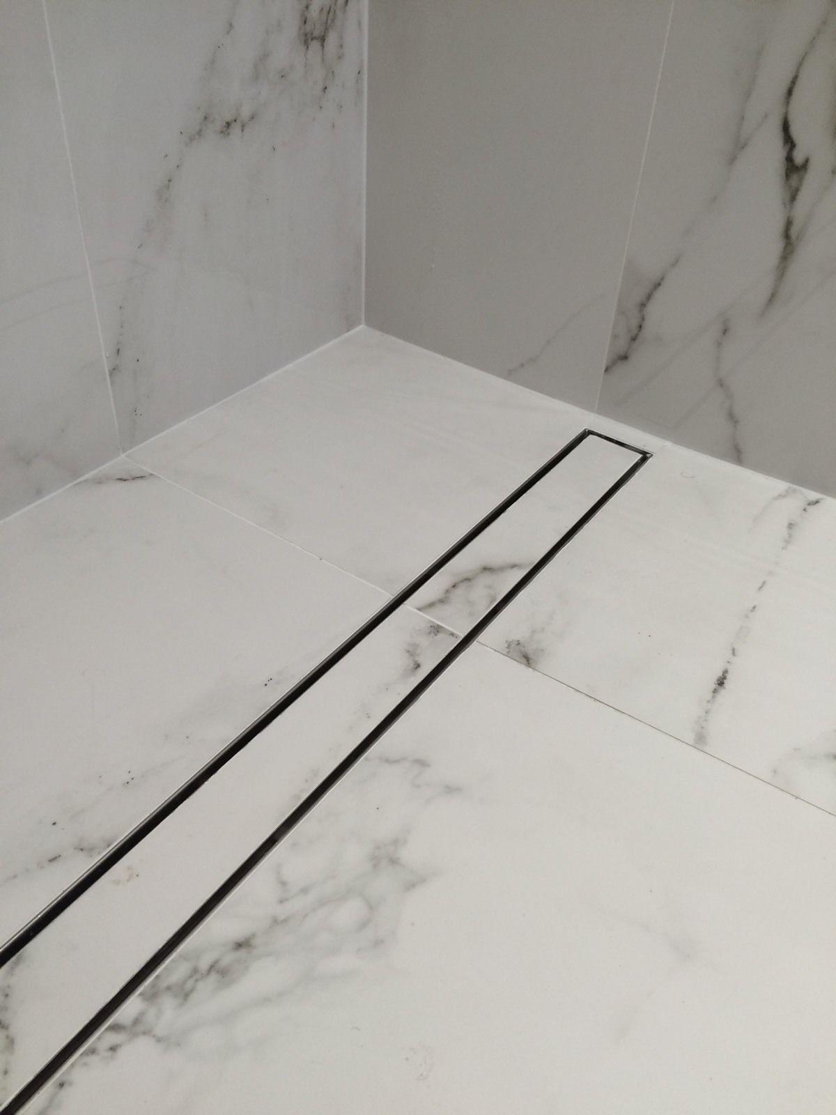 bathroom linear shower drain tile