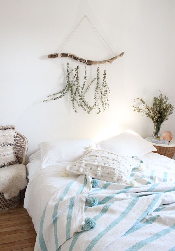 Boho Bedroom Pompom Blanket Throw Stripes Home Sweet Dream Home In