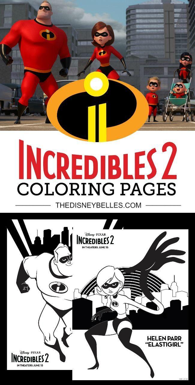 Download free disney pixar incredibles coloring pages in