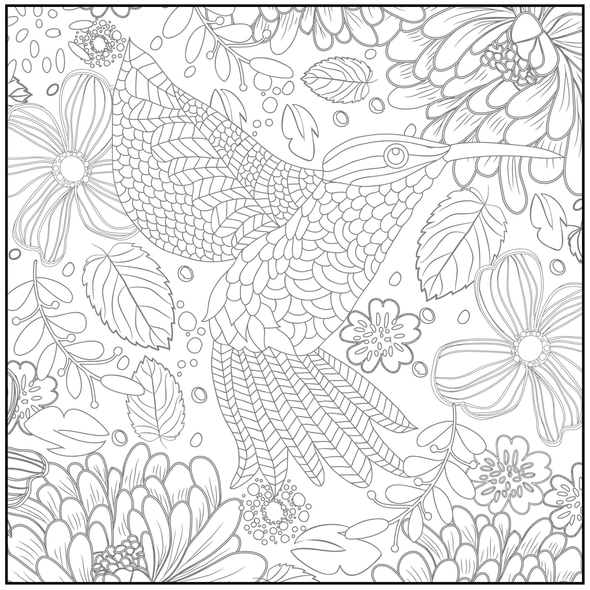 Color With Music Spring Serenade Adult Coloring Book Blank Page