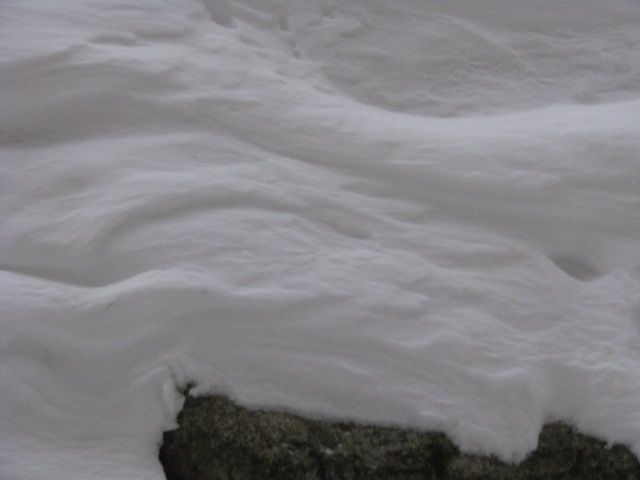 wind sculpted snow