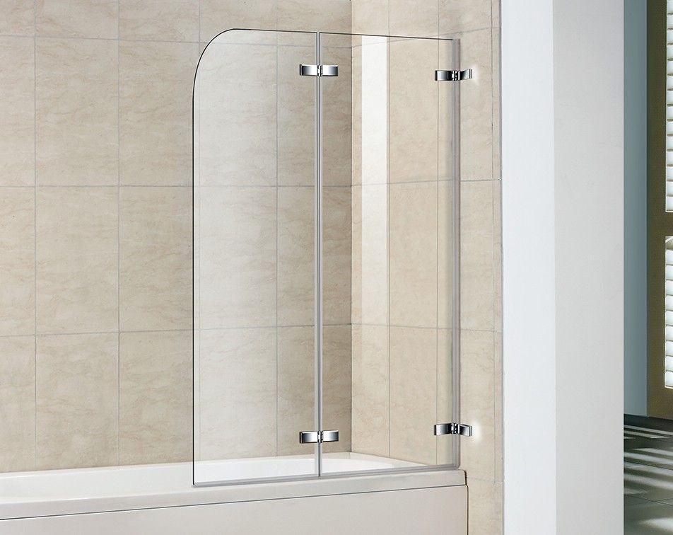 Shower Splash Guard Aqualux Polished Silver Aqua 6 Clear